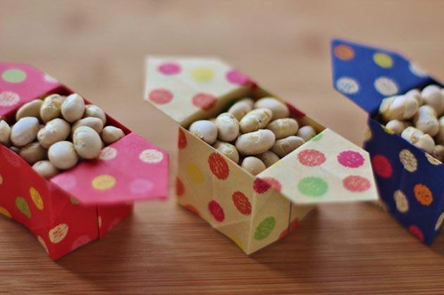 クリスマス 折り紙 豆入れ 折り紙 : handmade-recipe.com